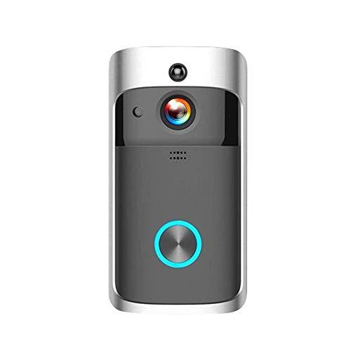 XHZNDZ Kabellose Türklingel 720P Video, HD COMS Sensor Gegensprechanlage mit WiFi-Verbindung (Farbe : SCHWARZ)