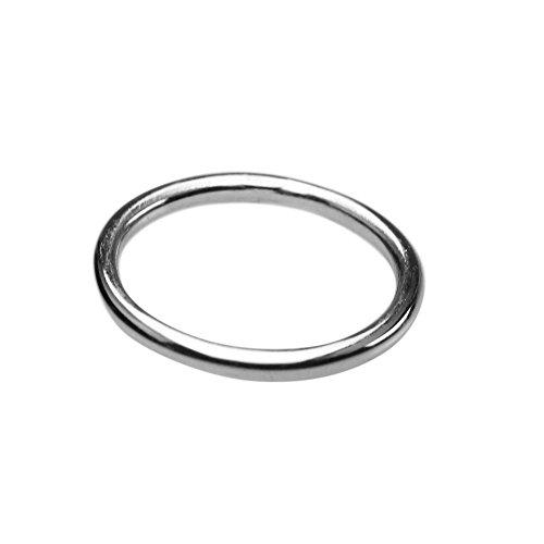 Schmaler runder 925er Silberring 2 mm, Größe:Größe 69 (22 mm)