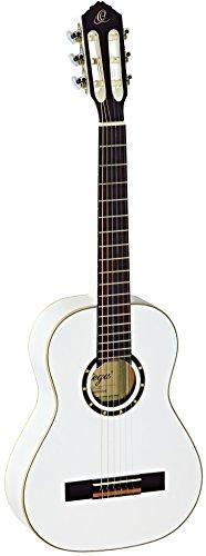Ortega R121-1/2WH Konzertgitarre in 1/2 Größe weiß im hochglänzenden Finish mit hochwertigem Gigbag