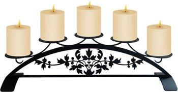 Village Wrought Iron 47cm Viktorianischer Tisch Top Säule Kerzenhalter - Säule Viktorianischen Kerze