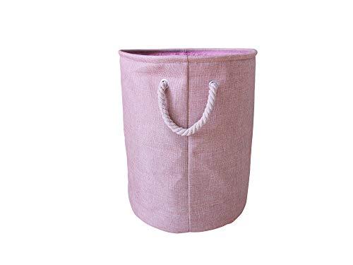 LATIJA vielseitig einsetzbarer Behälter aus Leinen mit Henkeln - Allzweckwaffe für Ihren Haushalt z.B. als Wäschekorb oder für Spielsachen und Kleidung. Faltbar, leicht und stabil (40x50 cm)