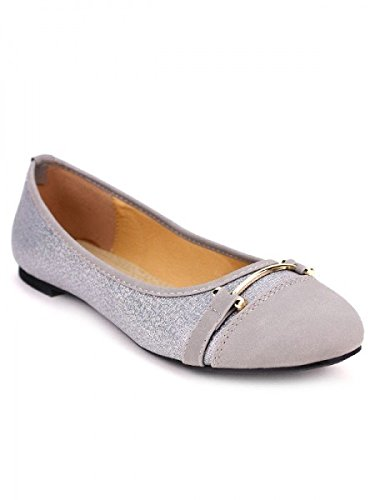 Cendriyon, Ballerine Argentée SEI CINK Chaussures Femme Argenté