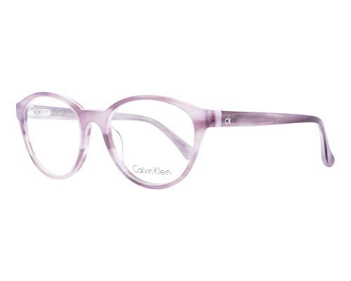 Calvin Klein Brille (CK-5881 500) Acetate Kunststoff marmor stil violett - kristall violett