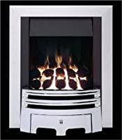 Ekofires 3030 Living Flame Gas Fire Chrome 'Meridian' Full Depth Gas Fire