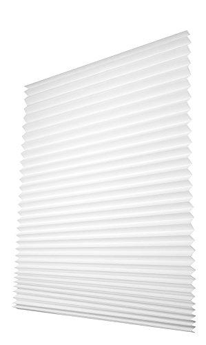 Easy-Fensterfix® – Rollo, Jalousie, Plissee – Sichtschutz aus Papier – ohne Bohren – für Fenster – Weiss – bis 121 cm (Rollo Clip)