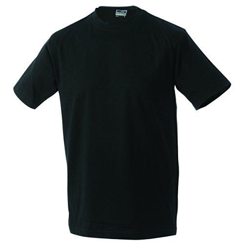 JAMES & NICHOLSON Herren T-Shirt, Einfarbig Schwarz - Schwarz