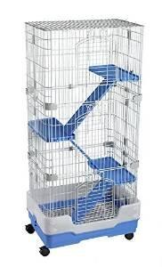 Leonardo 2Chinchilla Frettchen Rattenkäfig in blau (Blau Frettchen)