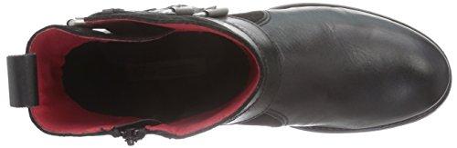 Buffalo Es 30508 Garda Suede, Bottes Motardes femme Noir (Preto)
