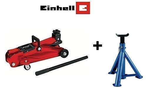 GrecoShop Cric/Sollevatore/Martinetto idraulico a carrello 2T/2000Kg Einh