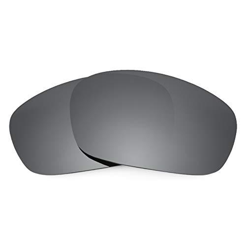 Revant Ersatzlinsen für Oakley Racing Jacket Polarisierung Schwarz Chrom MirrorShield® Asian Fit