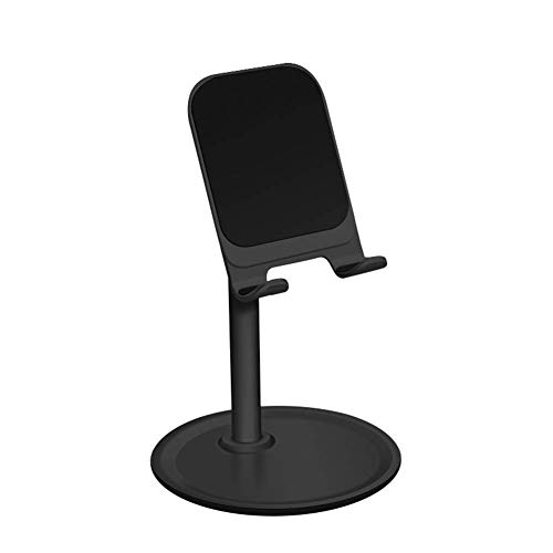 MongGood Universal Desktop Handyhalter Ständer Legierung Verstellbar Halteklammer für Handy Tablet - Schwarz - Runde Sockel-esstisch