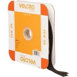 Bulk Buy: Klettverschlüsse Marke Sew On Soft & Flexible Tape 3/10,2cm X 30Füße schwarz 91796 -