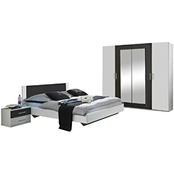 schlafzimmer komplett 54018 4 teilig wei lila k che haushalt. Black Bedroom Furniture Sets. Home Design Ideas