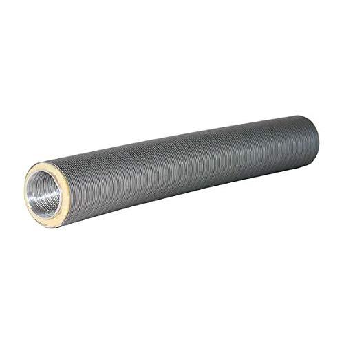 Ø 80 mm Isoliertes Aluflexrohr Therm-Flex Grau 75 cm