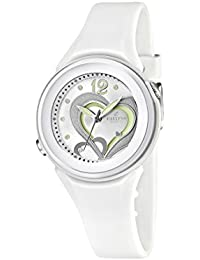 Calypso  watches K5576/1 - Reloj analógico de cuarzo para niña, correa de goma color blanco