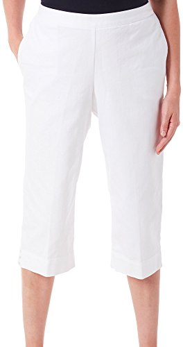 Alfred Dunner Women's Plus Size Capri Clean Front Cuff Detail Alfred Dunner Capris