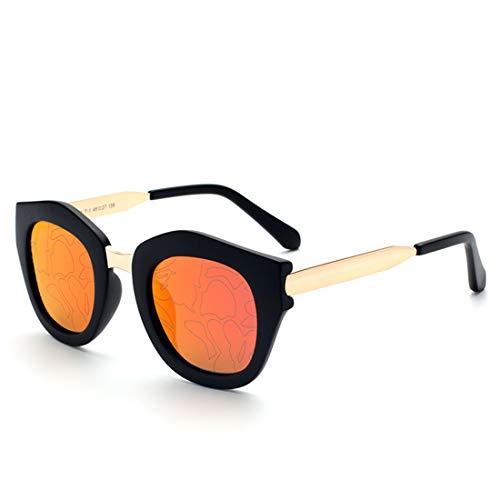 Polarisierte Sonnenbrille mit UV-Schutz Unisex-Vollformat Cat Eyes UV-Schutz Sonnenbrillen Farbige Brillengläser Fahren im Freien. Superleichtes Rahmen-Fischen, das Golf fährt ( Farbe : Orange )