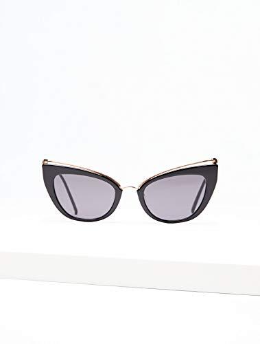 Max Mara Damen Mm Marilyn/G Sonnenbrille, Mehrfarbig (Blk Gold), 53