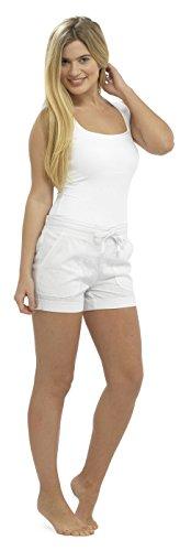 Tom Franks - Bas de pyjama - Uni - Femme Blanc - Blanc