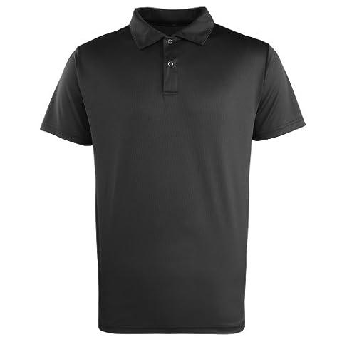 Premier Coolchecker Studded Polo Black 2XL