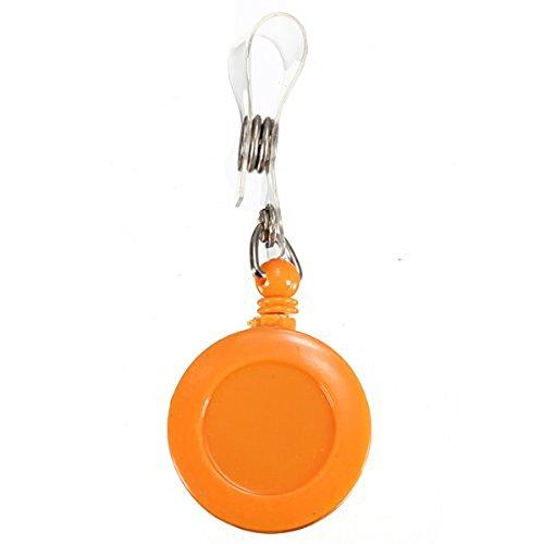 ID Card nacpy mit Schlüssel Ring Pull Gürtel Clip Halter Skipass schwere Pflicht Badge Pull Reel mit Strap Clip orange -