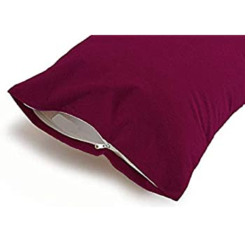Uppercut 100% Cotton Water Resistant Pillow Protector - Set of 2, Maroon (18x28 inches)