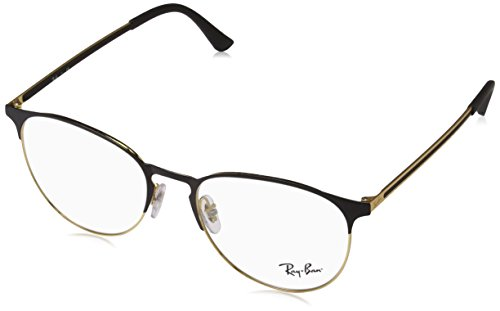 Ray-Ban Unisex-Erwachsene Brillengestell 0rx 6375 2890 53, (Gold Top In Black)