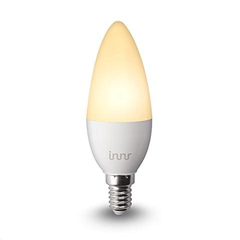 Innr E14 Ampoule LED connectée Blanc (pilotable via smartphone, iOS / Android, compatible avec Hue*) RB 145