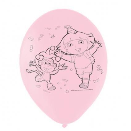 tex Luftballons (6er Pack) (Dora-luftballons)