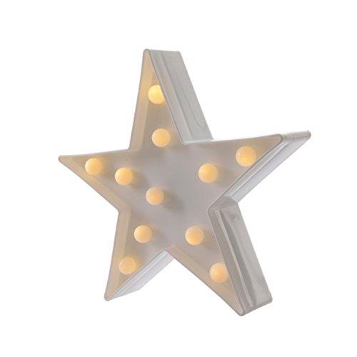 Lámpara decorativa led con forma de estrella de Navidad, 11 bombillas led, 25 cm, blanco cálido