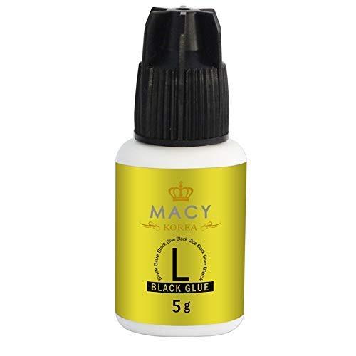 MACY WIMPERNKLEBER L Glue (Für Wimpernverlängerung) Extension Glue (5ML, Farbe: SCHWARZ) Original, Lash-Kleber