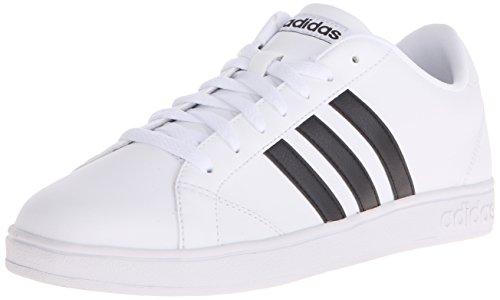 Adidas Neo línea de Base W Ocasional Zapatilla de Deporte, Blanco/Negro/Blanco, 10 M US