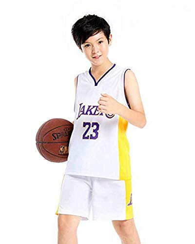 3d3df1b4d60d1c DEBND Kids NBA Lakers #23 James Basketball-Anzug Jersey Basketballtrikot  Sport Swingman Jerseys Basketball