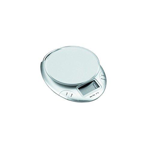 Lacor 61735 - Bascula cocina elect.5 kg cristal d.18cm