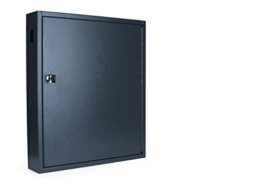 Pavo 8047208 Deluxe Schlüssel-Kasten/Schrank/Tresor, 80 Haken mit seitlichem Schlüsseleinwurf, dunkelgrau