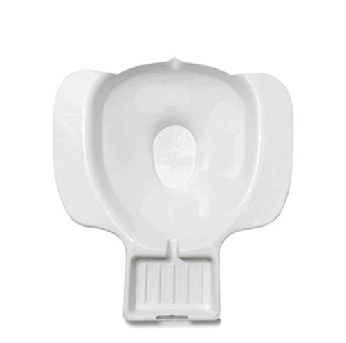 BLHZPD Sitzbadewannen Leichtes tragbares Reisebidet mit integrierter Seifenschale/Easy Clean 2er Pack (Color : White)