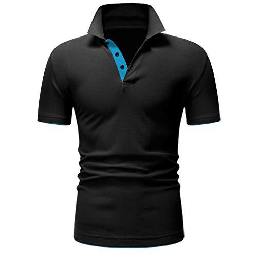 Button, Denim-jumper (Oliviavane Mode Herren Brief Druck Shirt Sommer Beiläufige Kurzarm Sport Fitness T-Shirts Atmungsaktiv Bequem Einfarbig Trainingsshirt Sweatshirts)