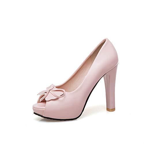 b7e9693c Sandalias de Vestir para Mujer Zapatos con Boca de pez anudados en Forma de  Mariposa Sandalias
