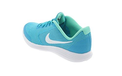 Nike NIKE REVOLUTION 3 (GS) 819416 405 Mädchen Schnürhalbschuh sportlicher Boden CHLORINE BLUE/WHITE-HYPER