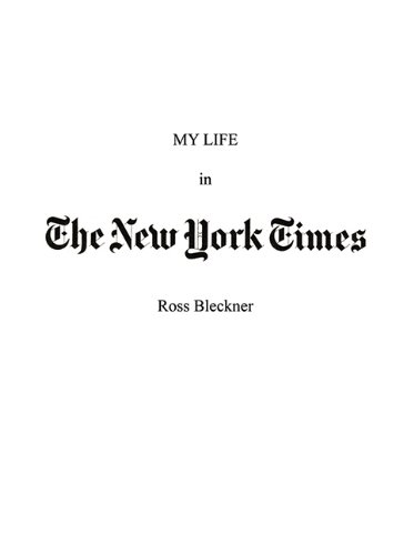 My Life in the New York Times: An Artist and His Work