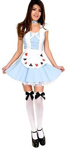 Forever Young - Damen Alice im Wunderland-Kostüm -Strümpfe Größe 38