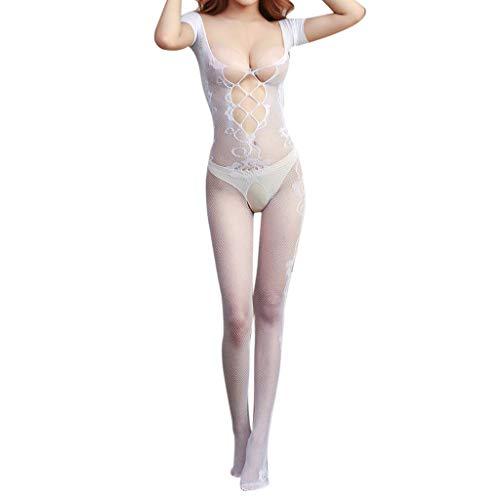 Pageantry Damen Karosserie Strumpf Bodysuit Transparente Feinstrumpfhose Matt Deluxe luxuriöse Transparenz Einfarbig Hauchfeine Straps-Strumpfhose Transparent Strapsstrümpfe
