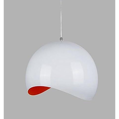 San Tai@Lampada lampadario a sospensione design retrò,rosso,alluminio,20cm*20cm