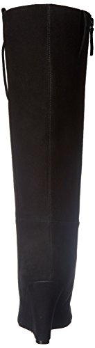 Nine West Oran Rund Wildleder Mode-Knie hoch Stiefel Black