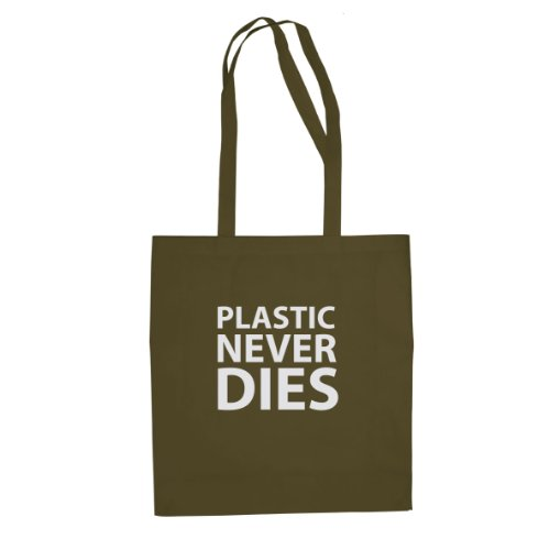 Plastic never Dies - Stofftasche / Beutel Oliv