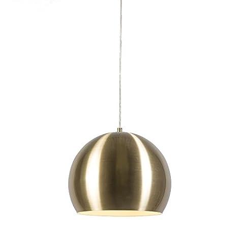 QAZQA Landhaus / Vintage / Rustikal / Retro / Pendelleuchte / Pendellampe / Hängelampe / Lampe / Leuchte Orb Gold / Messing 28cm Metall Rund / Kugel / Kugelförmig / LED geeignet E27 Max. 1 x 60 Watt