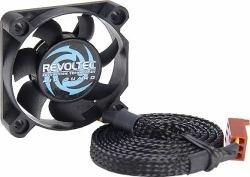 Revoltec - 40 mm Air Guard Gehäuselüfter, (40 mm x 40 mm x 10 mm, 5000 RPM) , schwarz (2 Stück)