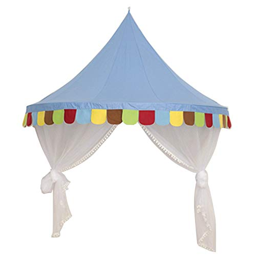 Tubayia Prinzessin Castle - Tienda de campaña Infantil, Mosquito, Dosel, mosquitera, Azul,...