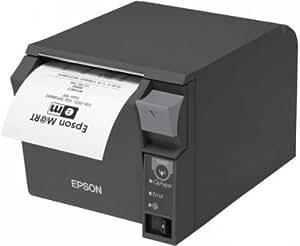 Epson TM-T70II, USB, Ethernet dark grey, 180dpi, C31C637022A1 (dark grey, 180dpi incl.: power supply unit, power cable (EU), order separately: interface cable)