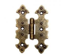 Preisvergleich Produktbild Möbelband,  Möbelbänder,  Möbelscharniere,  Scharnier,  antik Optik bronce